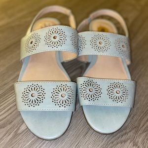 Baby blue sandals!